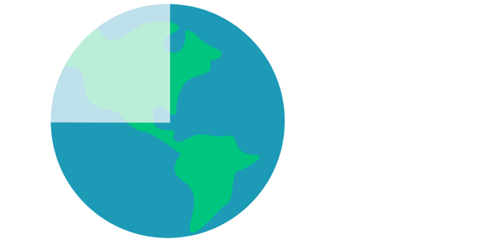 Global CO2 pie chart showing 75% of footprint